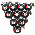 10pcs/lot Anime Cartoon Kumamon Rilakkuma Bear Mini 8cm Plush Dolls with Chain Stuffed Soft Toys Kids Gift Pendants Ring AP0041