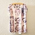 Marilyn Monroe Camisa 2016 Summer Tops Camiseta Tee Femme Coreano de La Manera del o-cuello Camiseta de Las Mujeres de Impresión Camiseta 3D de Manga Corta S2264