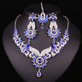 Hot design Indian  Bridal Jewelry Set Crystal Gold Plated Forehead Hair Accessories Necklace Earring Sets Engagement Decoration