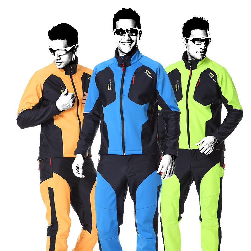New High-grade Windproof Cycling Men Pants And Jersey Suit Waterproof Outdoors Long Sleeve Jacket Mountain Suit Bicycle Clothing tasdan cycling jersey sets 3d slim cutting long sleeve mens cycling suit and tight pants