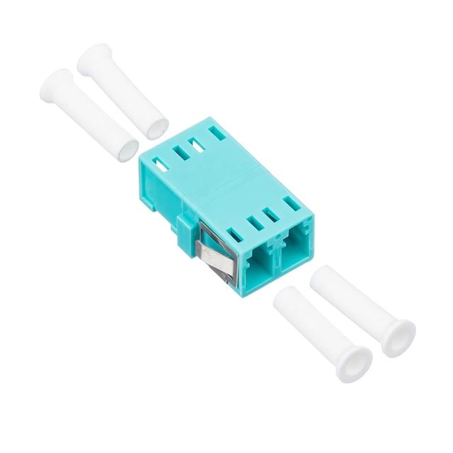 50Pcs/Bag,Fiber Optic LC/UPC MM OM3 SC Type Duplex Flange Coupling Carrier Class Fiber Adapter Coupler