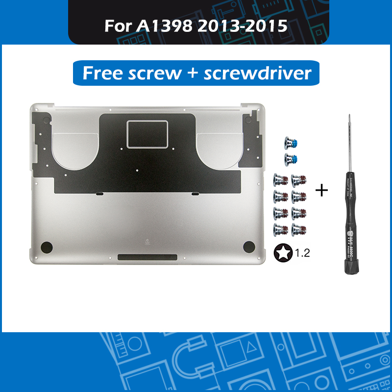 New For Macbook Pro Retina 15 A1398 bottom case Lower bottom cover free screw + screwdriver 2013 2014 2015New For Macbook Pro Retina 15 A1398 bottom case Lower bottom cover free screw + screwdriver 2013 2014 2015