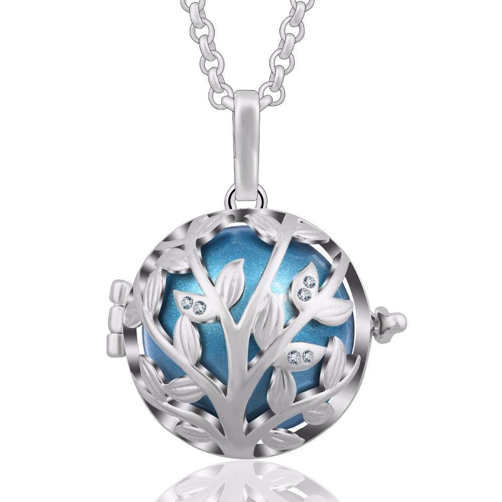 цена на Crystal Family Tree of Life Cage Pendant with 20 mm Chime Ball Baby Sound Mexican Bola Eudora Harmony Ball Pendant K168N