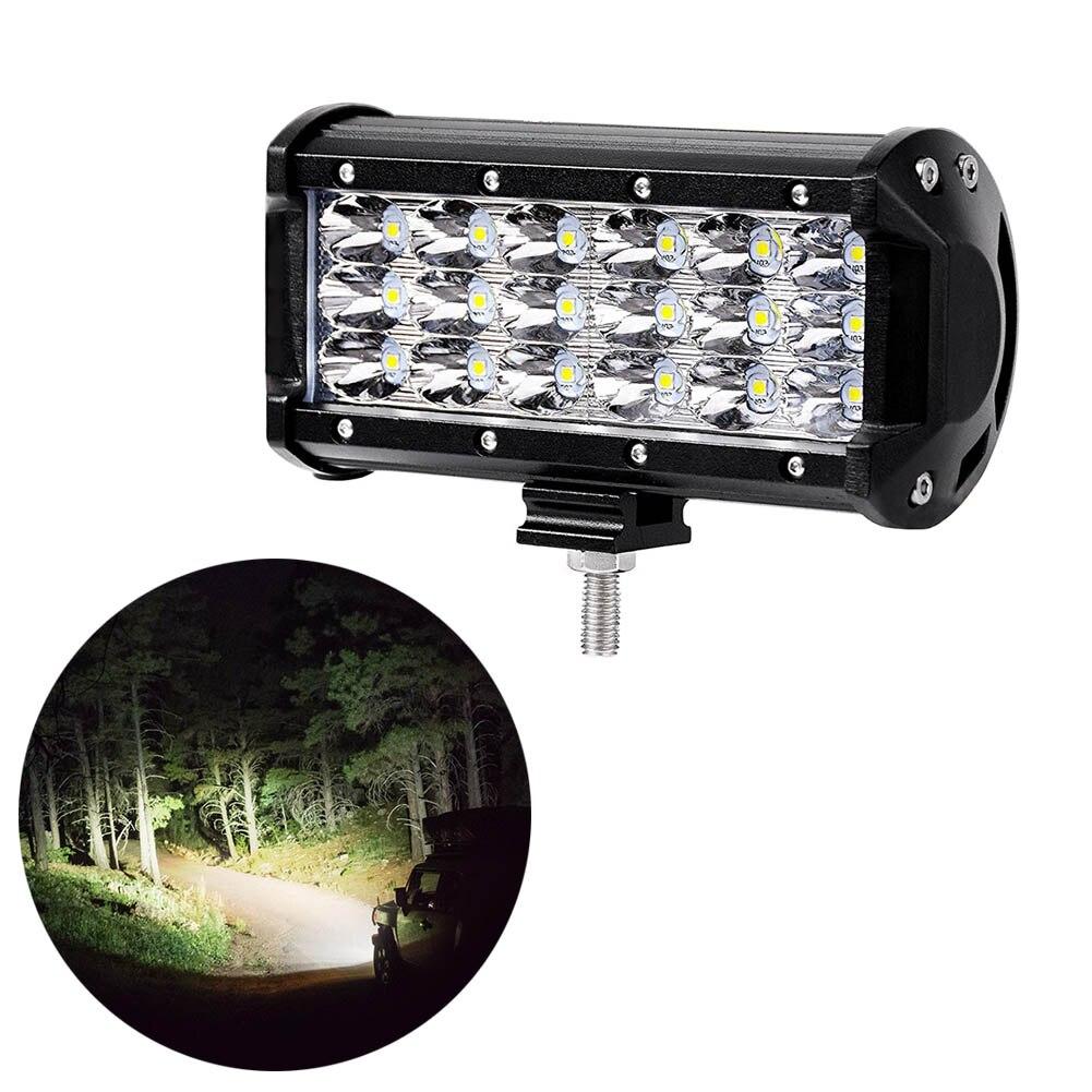 1pc/2pcs LED Car Light Lamp 7 Inch 54W 3-Rows LED Spotlights Fog Driving Light Car Boat Lights for SUV ATV Jeep Lamp CSL2017