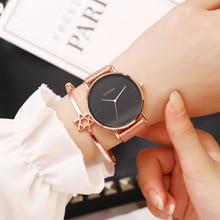 New Women Dress Watches Top Brand Luxury Stainless Steel Mesh Quartz Wristwatches Fashion Simple ladies Watch relogio feminino