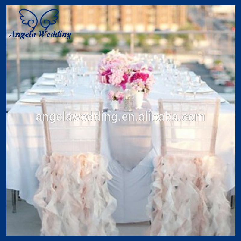 768ed24b9 CH005E Popularne tanie ślub potargane wierzba kręcona blush różowy i kości  słoniowej krzesło cover