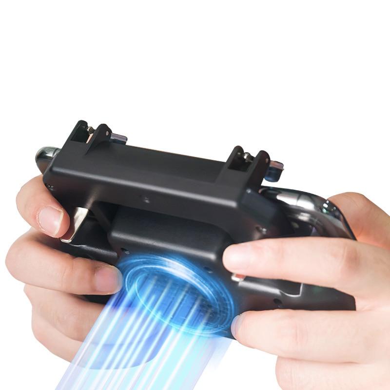 Купить с кэшбэком Fashion Phone Cooling Fan Heatsink Phone Holder Stand Game Holder Built-in Fan Tablet Bracket with 2000 mAh Power Bank