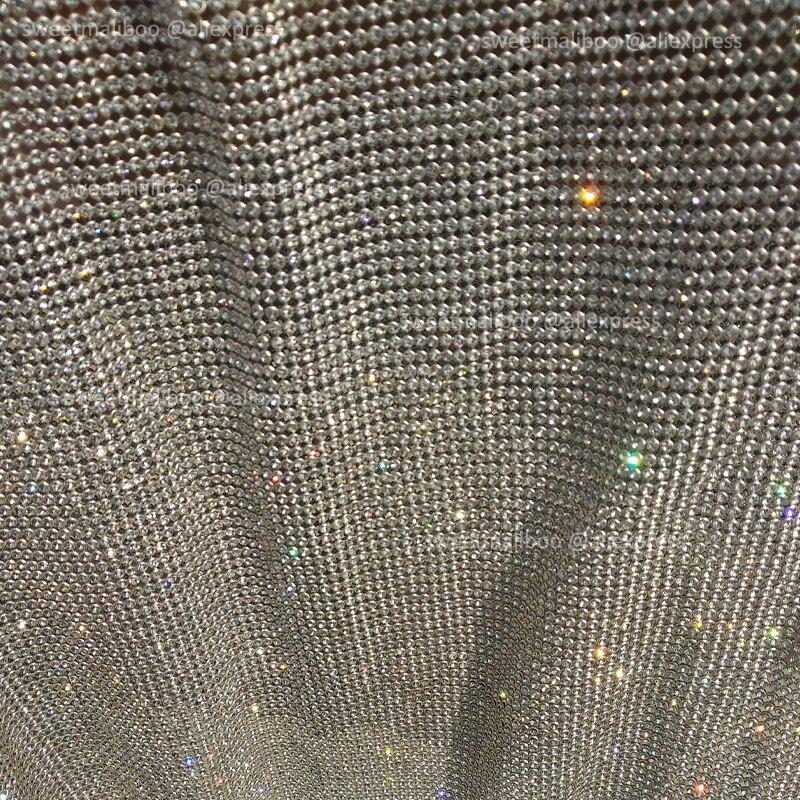 120 cm * 45 cm silber Strass metallic tuch Kristall metall mesh pailletten rollen kendal jenner kleid stoff Cosplay bekleidung vorhänge-in Stoff aus Heim und Garten bei  Gruppe 1