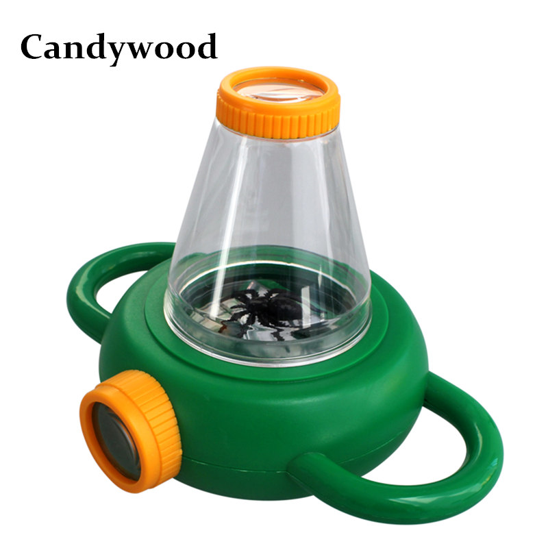 Candywood ABS Bidirectional Observe Insect Magnifier Box Kids Montessori Educational Toy Scientific toys for baby boy&girl gift