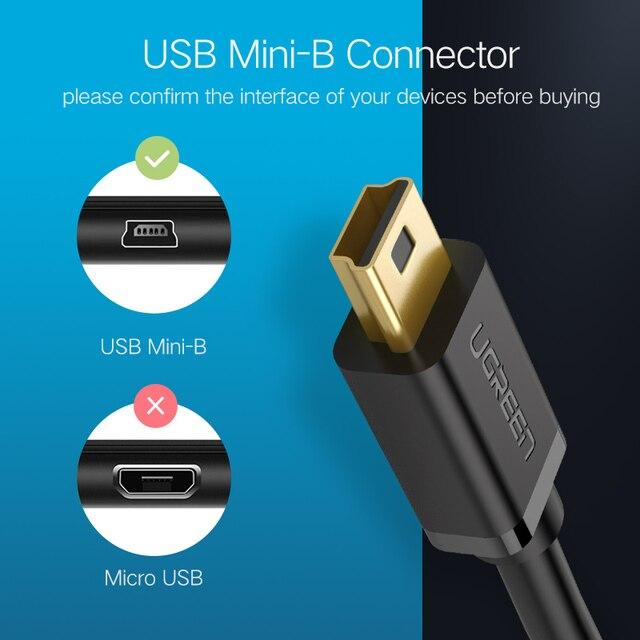 Ugreen Mini USB Cable Mini USB to USB Fast Data Charger Cable for MP3 MP4 Player Car DVR GPS Digital Camera HDD Mini USB 4