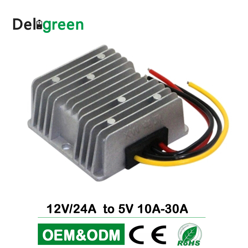 12V 24V to 5V 20A DC DC Converter 8V to 40V wide input 100W Regulator Car Step Down Reducer Buck converter