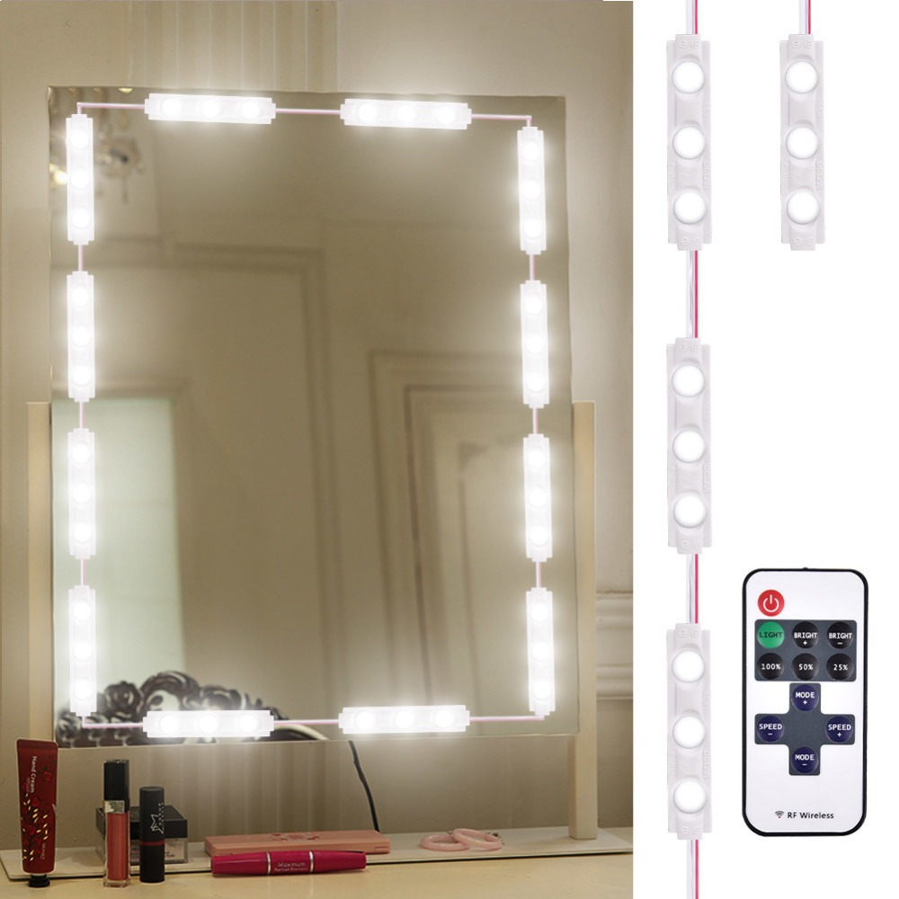 Makeup Mirror Lights Dimmable 60Leds LED Vanity Light Kits Waterproof DIY Module Lights With Switch Dimmer for Bathroom Cosmetic
