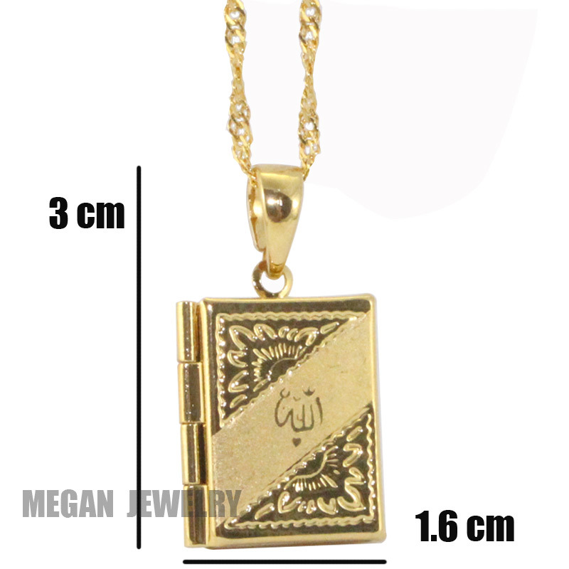 islam Allah Muslim quran books pendant & necklace, charm Islam Gift & Jewelry