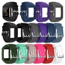 Soft Silicone Sports Bracelet Wrist Band Strap for Polar M600 GPS Smart Sport Watch Classic Stainless Steel Buckle 11 Colors