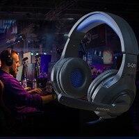 Игровые наушники 7,1 объемный звук стерео над ухом компьютерная игровая гарнитура с микрофоном пульсирующий светодиодный светильник для PC ...