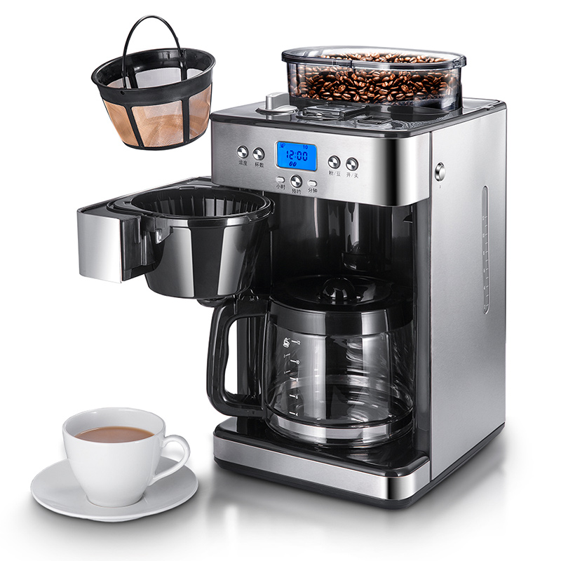 Commercial household full automatic ground bean coffee ...