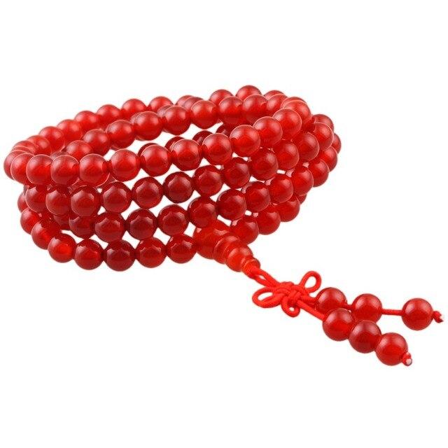 US $8 99 |SUNYIK Carnelian 6mm Buddhist Buddha Meditation 108 Prayer Bead  Mala Bracelet/Necklace-in Strand Bracelets from Jewelry & Accessories on