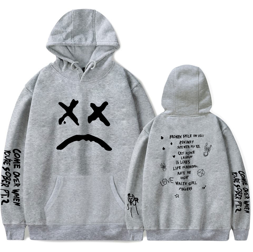 Image 4 - Print HELLBOY Lil peep Hoodies Men/Women Sweatshirt Famous Rapper Men's Hooded Pullover Men Hoodies lil peep Clothes XXS 4XL-in Hoodies & Sweatshirts from Men's Clothing