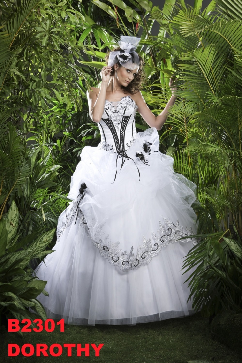 Black and white corset wedding dress for White corset wedding dress