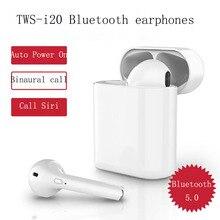 New TWS i20 smart Bluetooth 5.0 earphone earplug earbuds Noise Reduction Siri Binaural stereo HD Call Auto Matching charging box