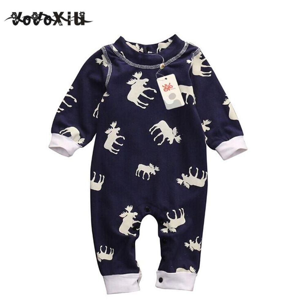 100% QualitäT Yoyoxiu Nettes Kleinkind Mädchen Junge Weihnachten Langarm-body Overall Pyjamas Weihnachten Kleidung Warme Outfits