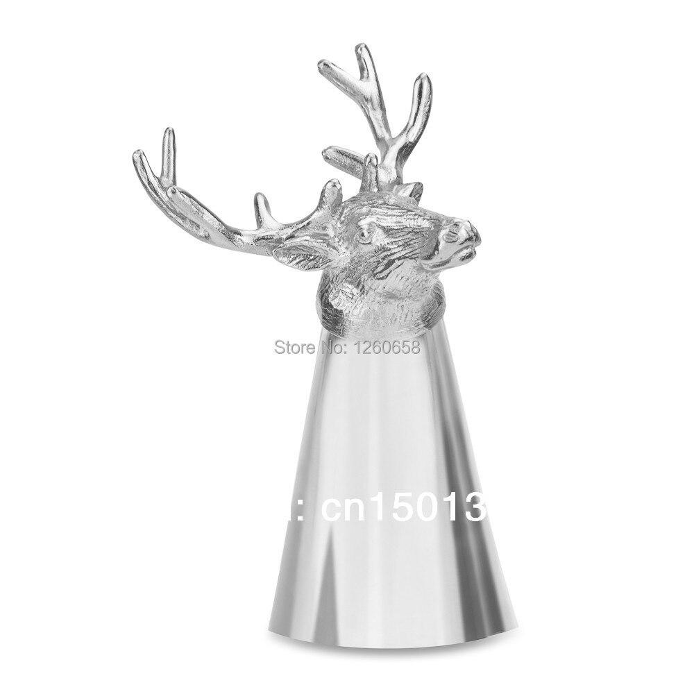 Free Shipment Stainless Steel Stag Shot <font><b>Cup</b></font> Hunting Shooting Gift Deer <font><b>Stirrup</b></font> Head Nip Shot