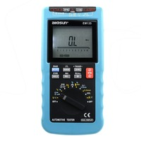 all-sun EM135 Modern Digital Automotive Multimeter 20A ACA/DCA LCD Autorange Automotive Tester O2-sensor Temp.RPM Dwell Angle