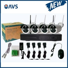 Hot CMOS 4 Channel 960P IP Wireless P2P CCTV Surveillance System NVR Kit Support 1TB/2TB/3TB/4TB Hard Disk