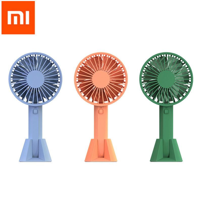 Original Xiaomi VH Handheld Fan USB Mijia Fan Portable Mini Ventilador Summer Cooler Rechargeable Handy Fan for Smart Home mini usb fan portable handhold fan with rechargeable built in battery usb port design handy mini fan for smart home