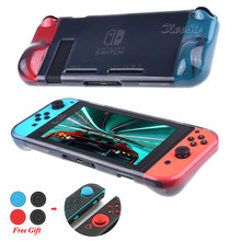 Nintend Switch NS Gamepad Soft TPU Handle Grips Case Nintendoswitch Protect Cover Nintendos Switch Carry Shell for Nitendo Games(China)
