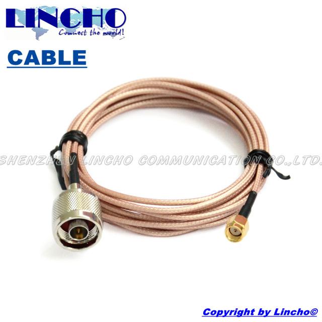 3 metros RG316 N macho a RP SMA macho cable de conexión de 2.4 GHz wifi antena exterior