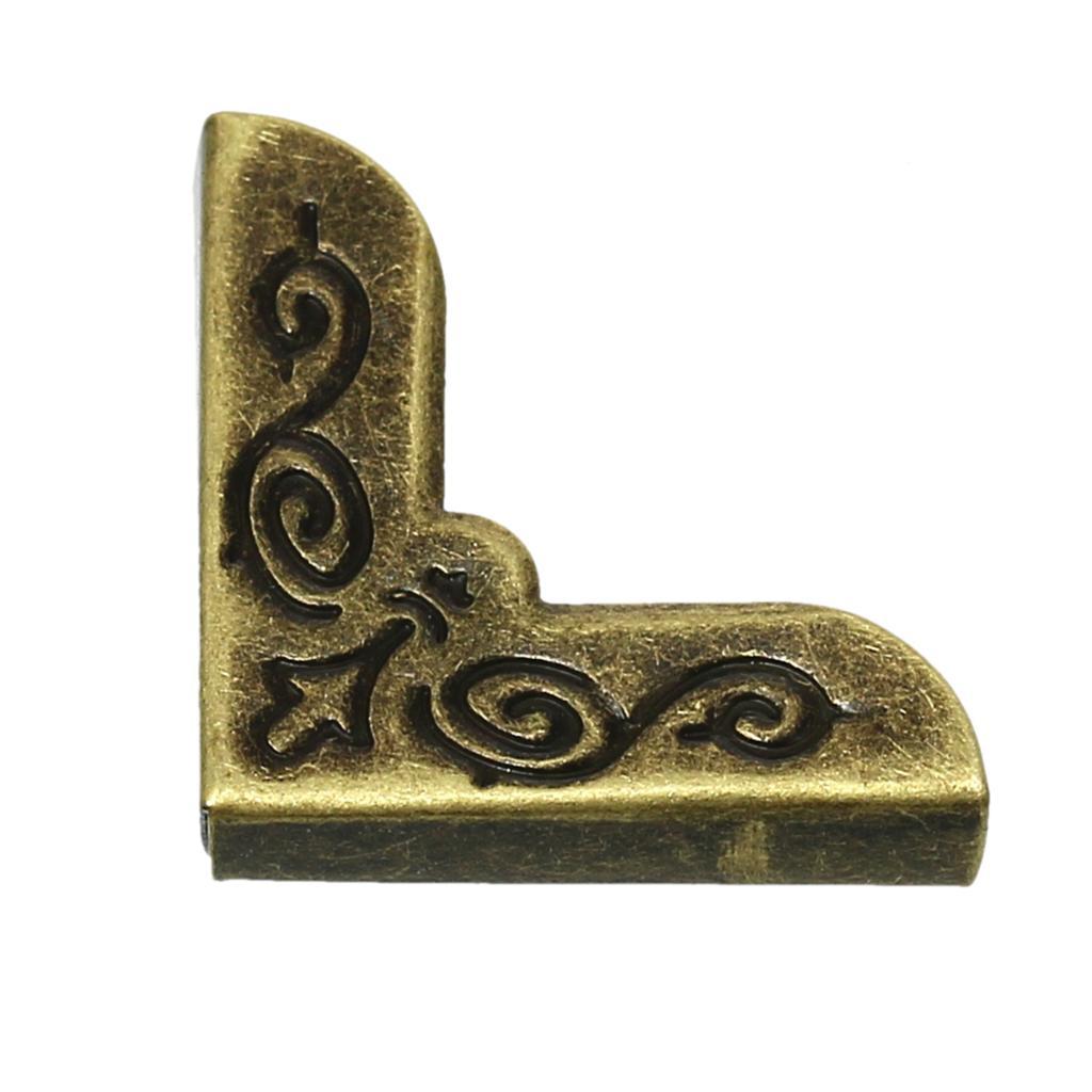 Boek Scrapbooking Albums's Mappen Protector Antieke Bronzen Bloem Patroon 21mm X 21mm, 100 Stks 2016 Nieuwe