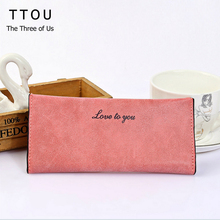 TTOU Quality Leather Long Fashion Women Wallets Designer Brand Clutch Purse Lady Party Wallet Female Card Holder