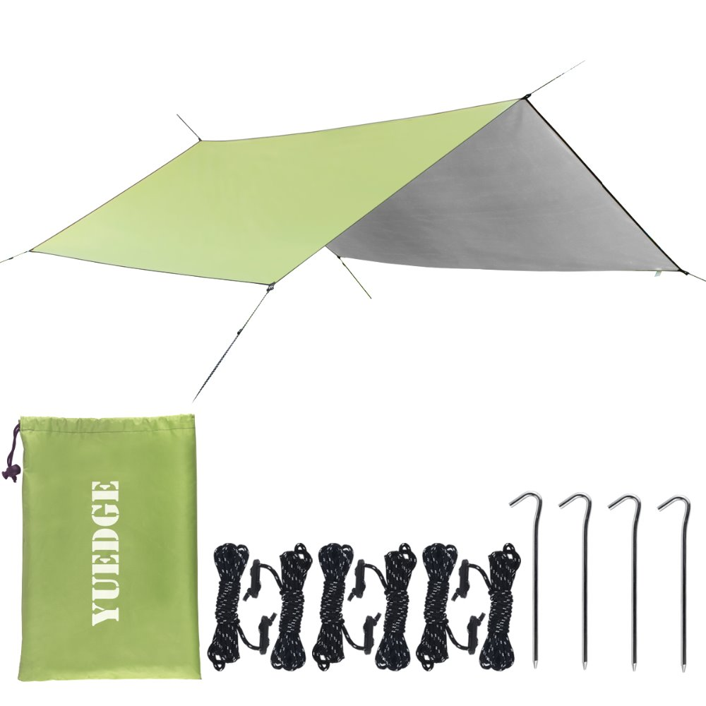 YUEDGE Brand Easy Set Up Portable Waterproof Camping Tent Shelter Sunshade Rain Tarp Hammock Tarp Rain Fly