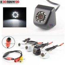 Koorinwoo CCD HD Video Car Rear view Camera Frontale Della Macchina Fotografica 8 led Luce di visione notturna Sistema di Parcheggio Nero/bianco reverse per la sicurezza