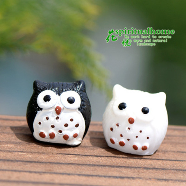 Colorful Night Owl Small Resin Ornament Crafts Statue  3