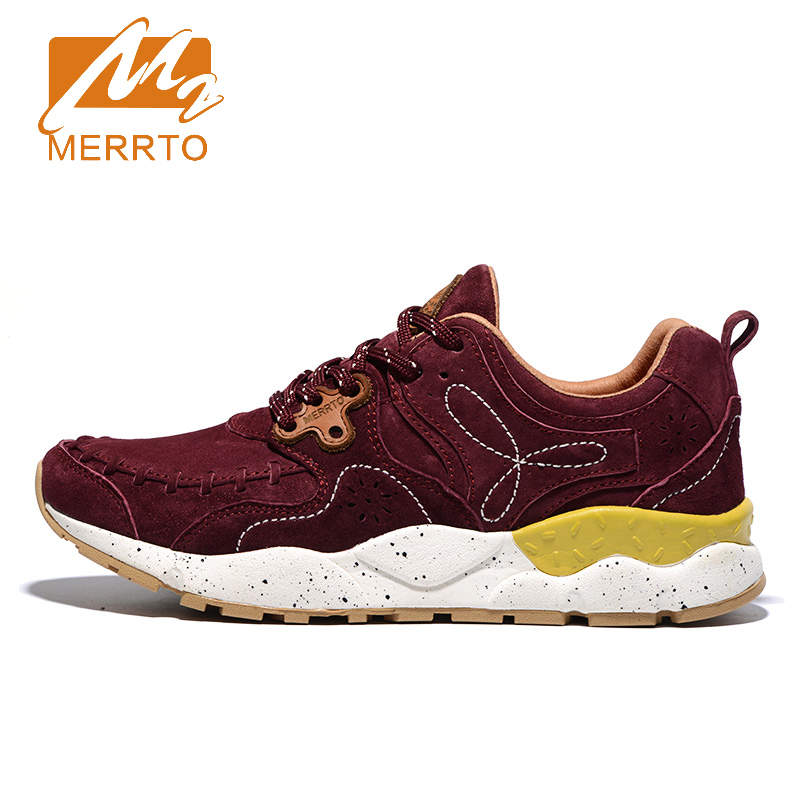 ФОТО 2017 Merrto Womens Walking Shoes Breathable Outdoor Shoes For Female Color Brown Grey Red Khaki Blue Free Shipping MT18625