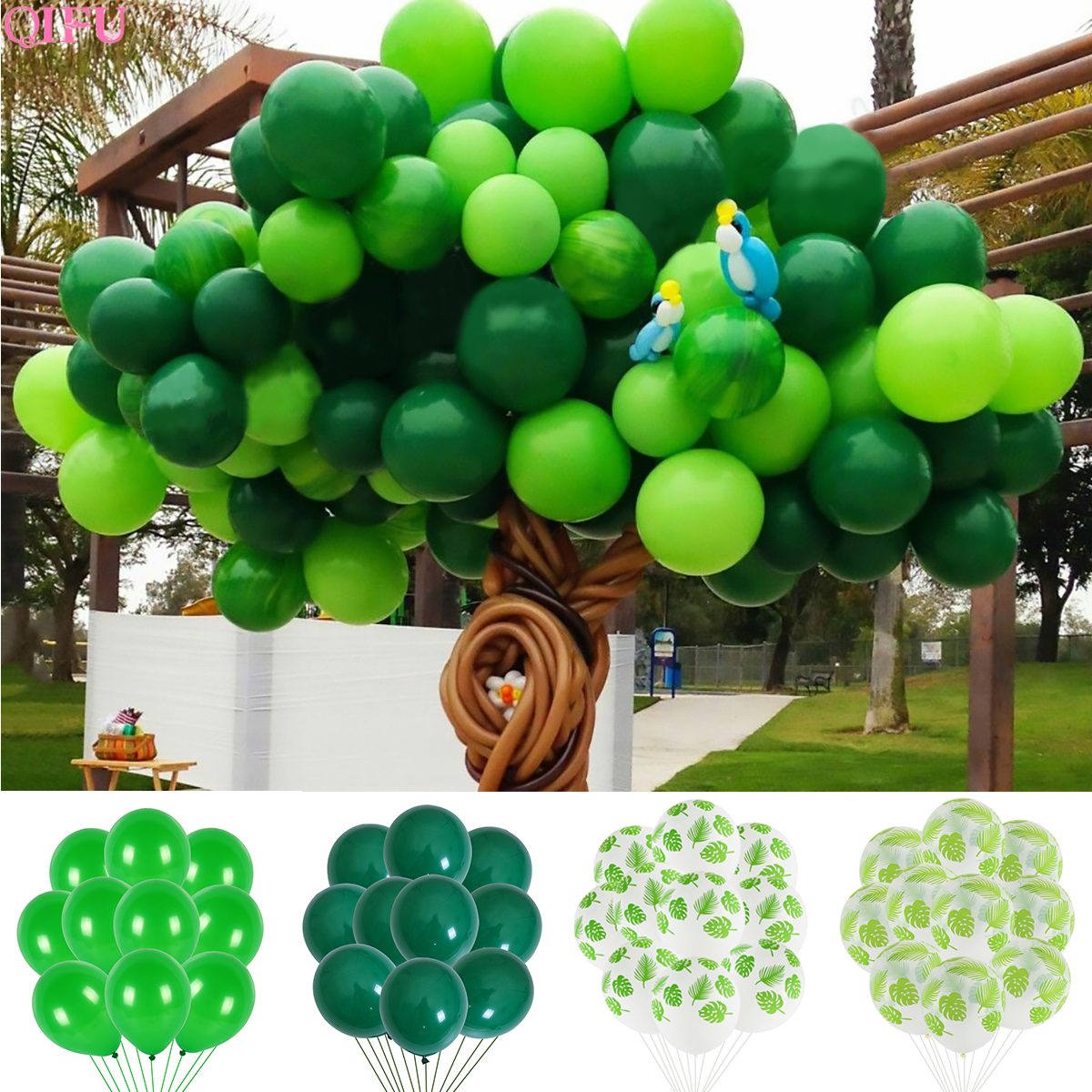 Купить с кэшбэком Baloon Latex balloon Animal Jungle Balloon Birthday balloons Jungle Theme Party Inflatable Ballons Decor Birthday Safari Party