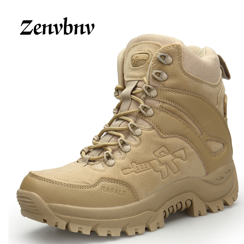 ZENVBNV Winter Autumn Men Snow Military Boots Quality Special Force Tactical Desert Combat Ankle Boats Army Work Leather Shoes homass winter autumn men military boots quality special force tactical combat ankle boats army work shoes flock safety boots