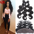 8A QUEENKING HAIR Ear To Ear Lace Frontal Closure With Bundles Peruvian Virgin  Body Wave With Closure Human Hair Lace Frontals
