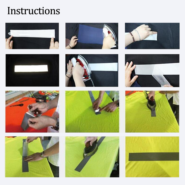 3M Safety Reflective Heat transfer Vinyl Film DIY Silver Iron on Reflective Tape For Clothing 5