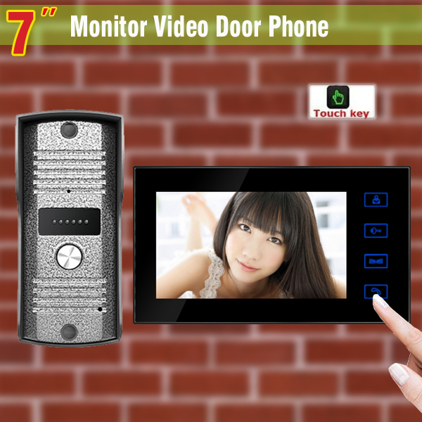 7 Inch Wired Video Door Phone Intercom System visual intercom doorbell Night Vision Camera Video Doorbell Interphone kit lcd wired video security doorphone camera tft screen video interphone infrared night vision doorbell intercom