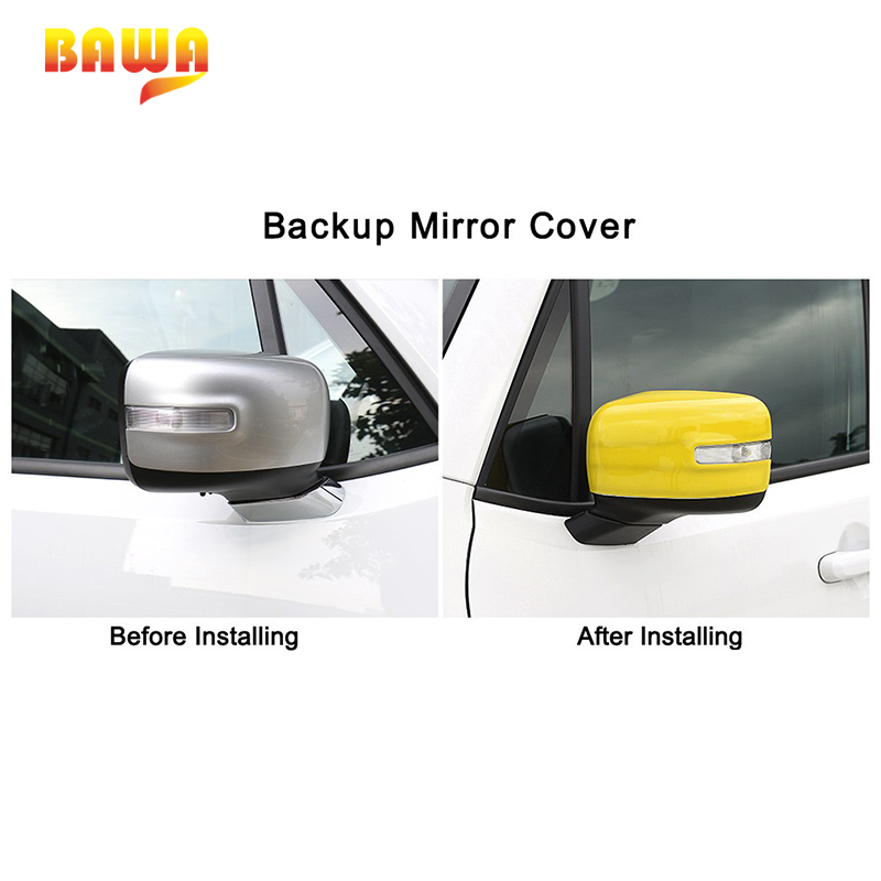 ABS Side Mirror Cover Trim for 2015-2018 Jeep Renegade Rearview Turning Light