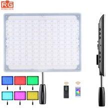 Yongnuo yn600 rgb светодиодные видео/фото свет с регулируемым цветовая температура 3200 К-5500 К для зеркальных камер беспроводная связь bluetooth пульт дистанционного