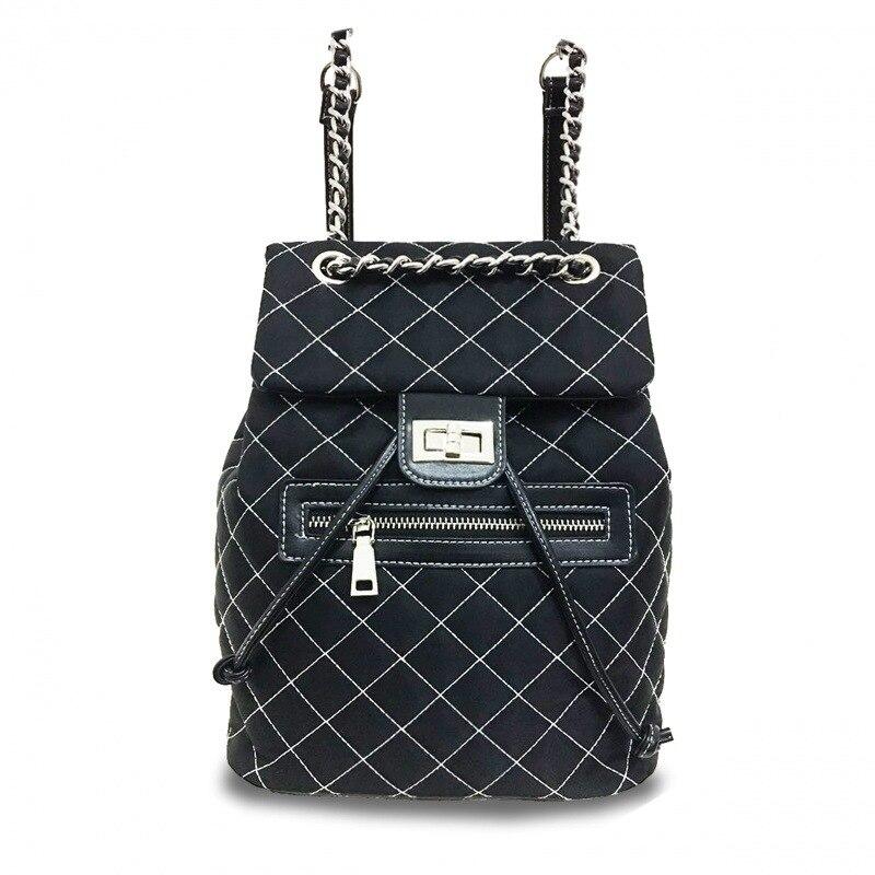 купить Women Diamond Lattice Oxford cloth small Colorful chain shoulder shoulder bag tide backpack bag female недорого