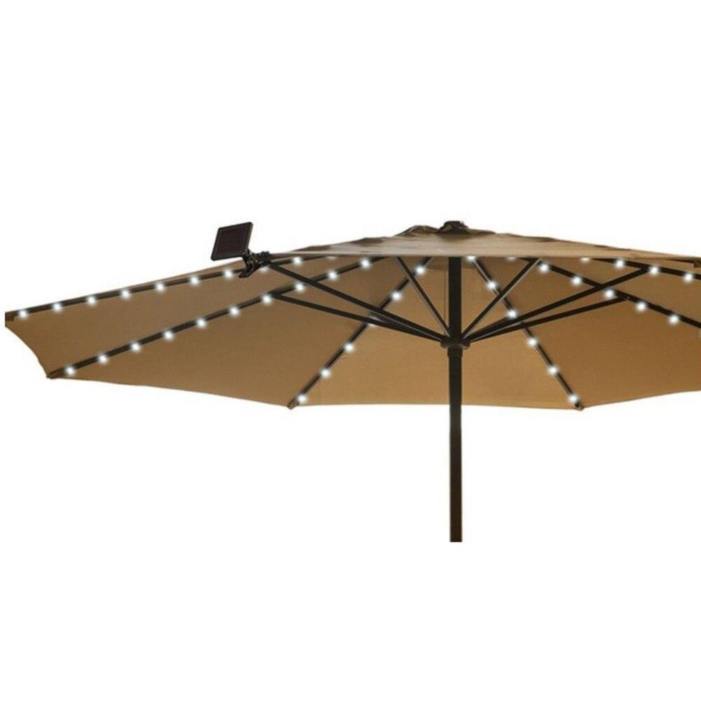 19M 72LED Solar Powered Umbrella LED String Lights Outdoor Garden Wedding Party Decorative Fairy Lighting Strings Lamp Bright