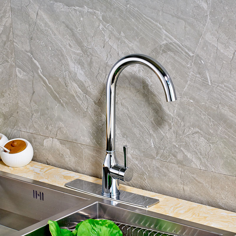 Newly Product Kitchen Sink Faucet with Square Hole Cover Plate Deck ...