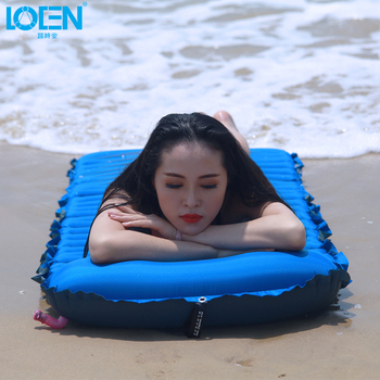 Universal TPU Super Light Ultrathin Outdoor Camping Bed Mattress Inflatable Mattress Waterproof Fabric Plane Head Rest Bed Sleep