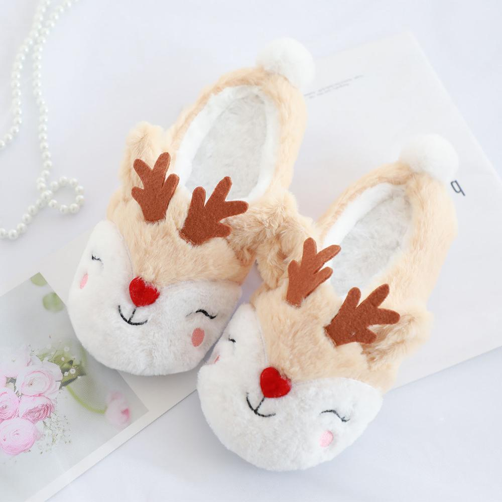 Millffy Winter Woman Slippers Plush Warm Cotton Home Slippers Christmas Elk Indoor Shoes Ladies Woman Floor Mules Shoes WomenMillffy Winter Woman Slippers Plush Warm Cotton Home Slippers Christmas Elk Indoor Shoes Ladies Woman Floor Mules Shoes Women