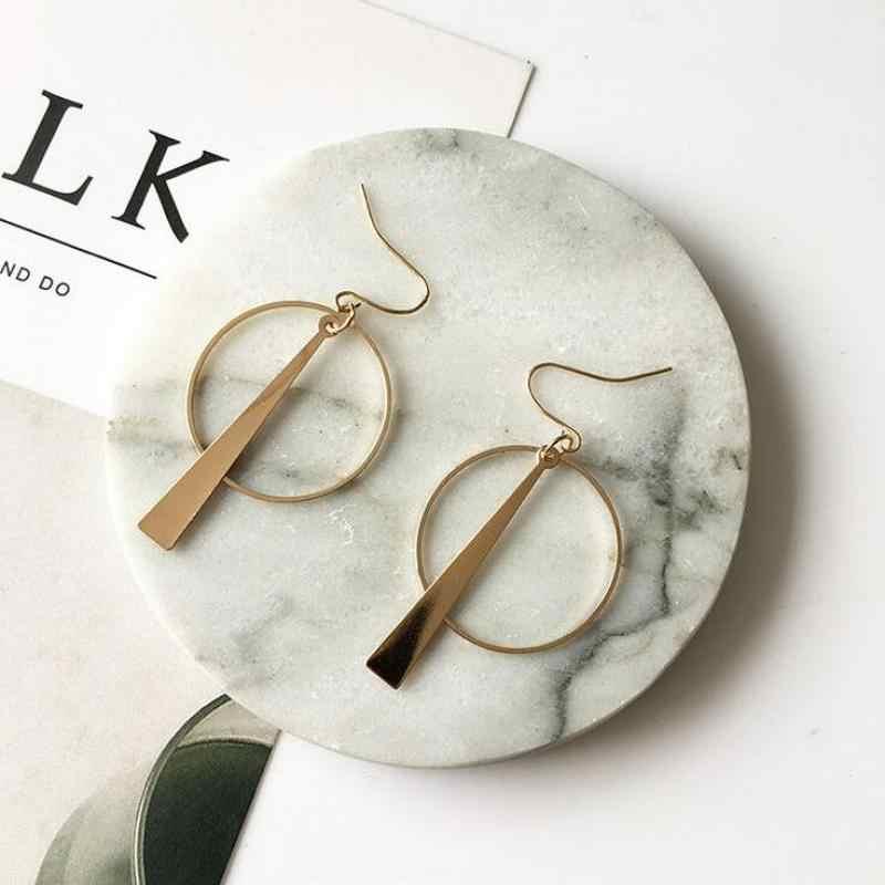 2019 nowych moda kobiet kolczyki dla kobiet biżuteria Alloy duże okrągłe cekiny wisiorek spadek kolczyki Boucle D'oreille Femme Pendante